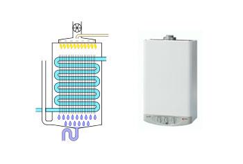 esquema de caldera de condensacion
